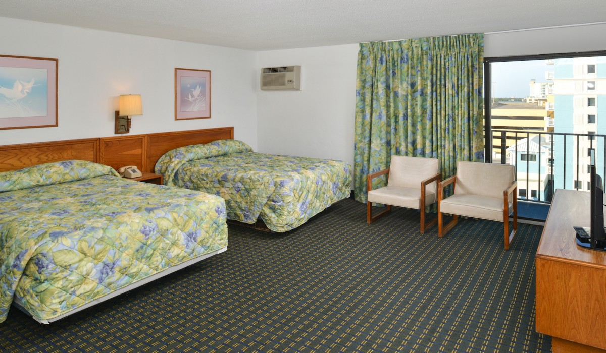The Sea Horn Motel in Myrtle Beach - 2 Double Bedroom with Balcony