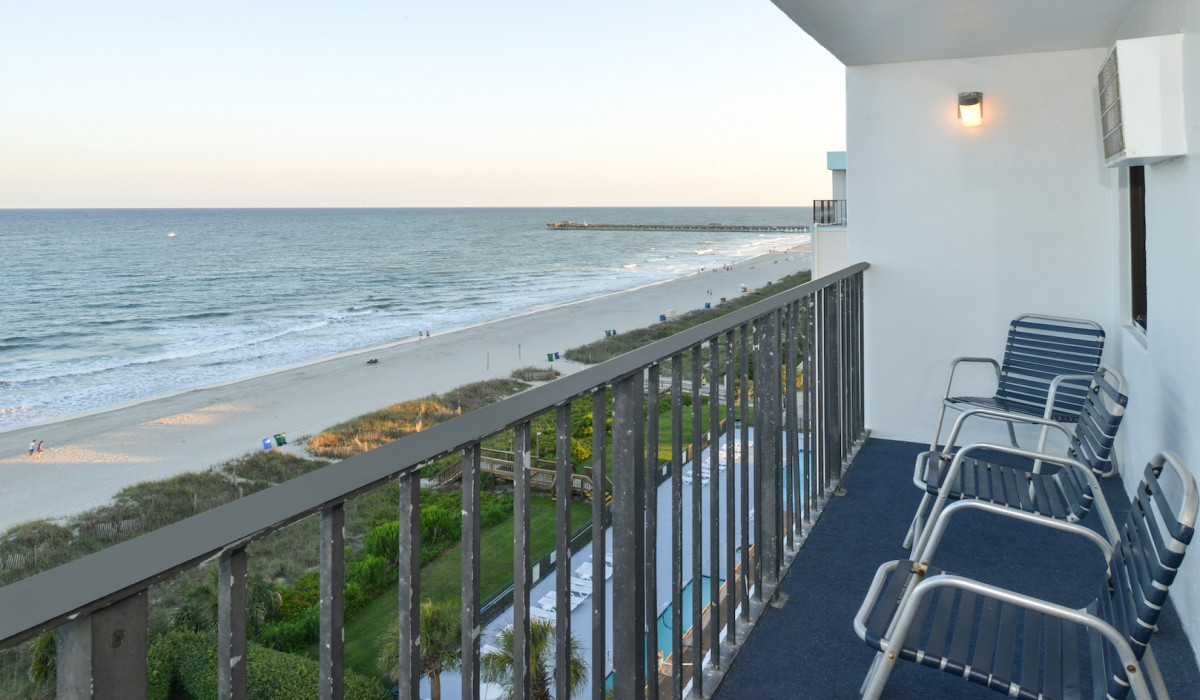 The Sea Horn Motel in Myrtle Beach - Oceanview bedrooms available at Sea Horn Motel